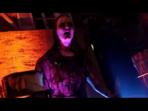 Mask-a-Raid scare zone at Halloween Horror Nights in Hollywood
