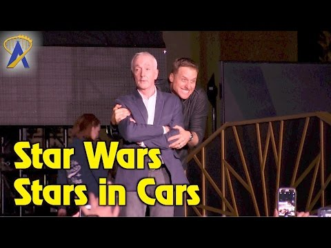Star Wars Stars in Cars motorcade during special Galactic Nights event