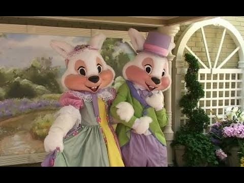 Easter parade with Mr. and Mrs. Easter Bunny at the Magic Kingdom Walt Disney World