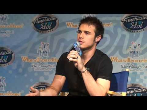Idol Kris Allen answers media questions at Walt Disney World