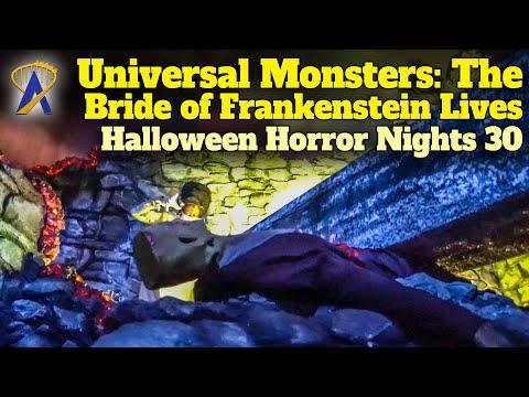 Universal Monsters: The Bride of Frankenstein Lives Walkthrough - Halloween Horror Nights 30