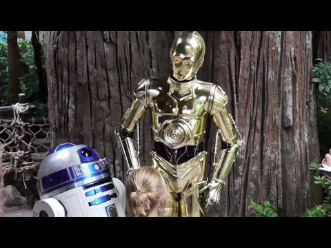 C-3PO talks with guests at Disney's Hollywood Studios during Star Wars Weekends