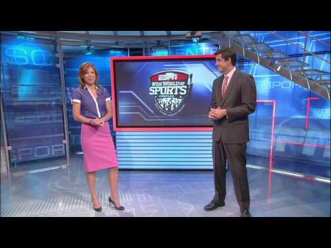 ESPN SportsCenter hosts look at the new ESPN Wide World of Sports Complex at Disney World