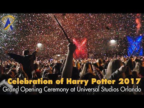 A Celebration of Harry Potter 2017 Grand Opening Confetti-filled Moment