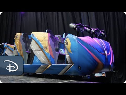 First Look at the Guardians of the Galaxy: Cosmic Rewind Ride Vehicles