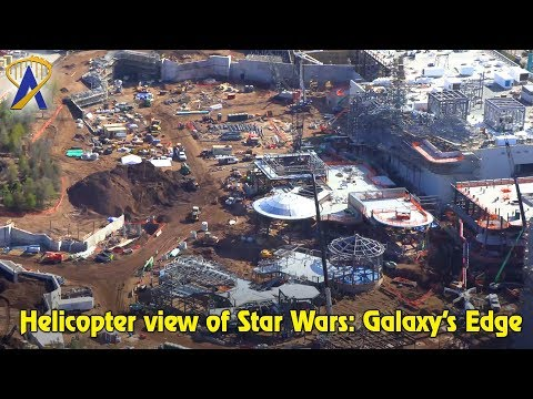 Flyover the Star Wars: Galaxy's Edge Disney World Construction Site