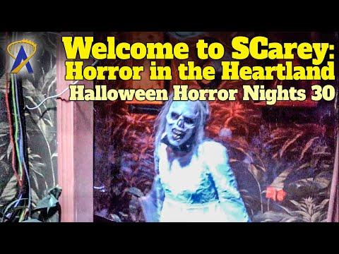 Welcome to SCarey: Horror in the Heartland Walkthrough - Halloween Horror Nights 30 - Orlando