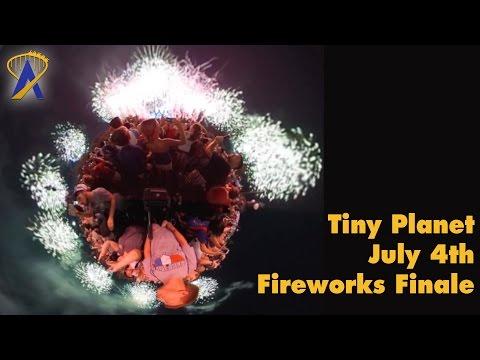 Tiny Planet: Disney's Fourth of July Fireworks at Magic Kingdom
