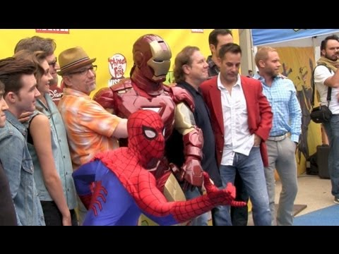 Disney's Spider-Man and Iron Man first public appearance in promotion of Phineas and Ferb crossover