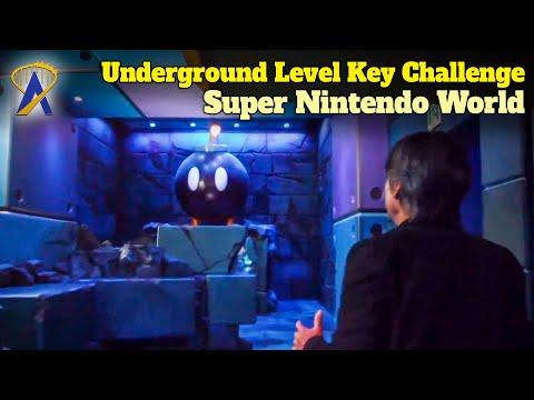 Underground Level 'Power-Up Band Key Challenge' in Super Nintendo World at Universal Studios Japan