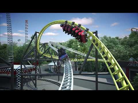 West Coast Racers Roller Coaster Rendering Six Flags Magic Mountain
