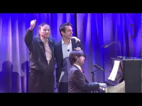 "Sherman Brothers actors sing with Richard Sherman at Disney's D23 Expo - ""Saving Mr. Banks"""