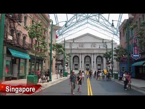 Comparing Universal Studios Florida in Orlando to Universal Studios Singapore