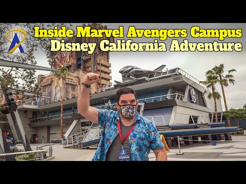 Overview and Interviews Inside Marvel Avengers Campus at Disney California Adventure