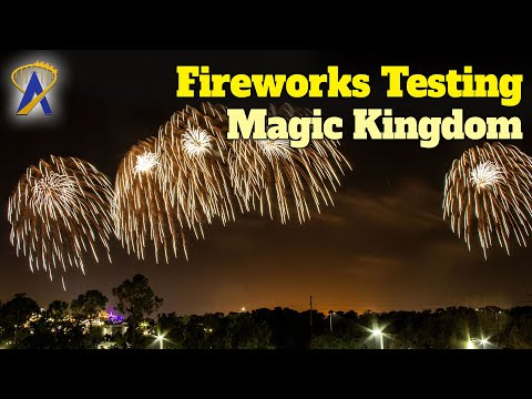 Fireworks Testing Over The Magic Kingdom At Walt Disney World