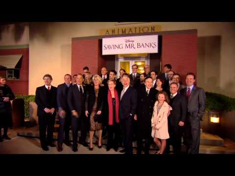 Saving Mr. Banks cast sings Let's Go Fly A Kite at film's US premiere