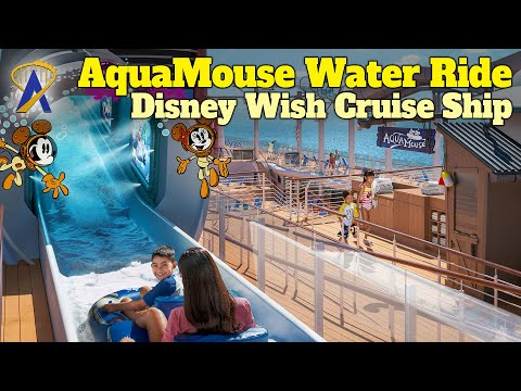 AquaMouse – Disney's First Attraction at Sea on Disney Wish Cruise Ship