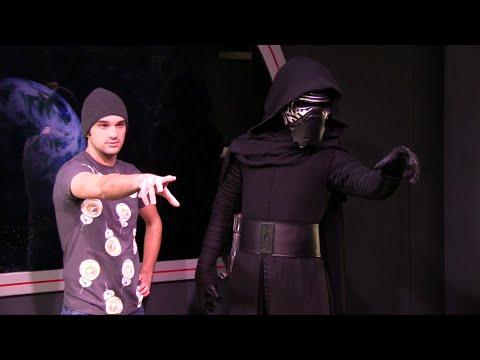 Kylo Ren arrives at Disney World in Star Wars Launch Bay