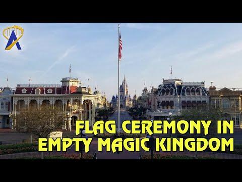 Flag Ceremonies Continue at Magic Kingdom During Walt Disney World Closure