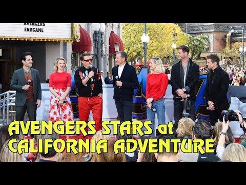 Avengers: Endgame Stars Make Surprise Appearance at Disney California Adventure