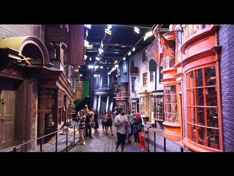 Diagon Alley set walkthrough at The Making of Harry Potter Warner Bros. Studios