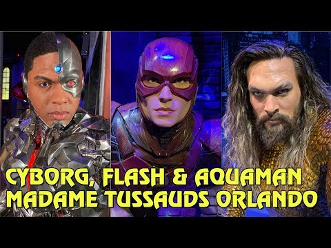 Aquaman, Cyborg & Flash added to Justice League: A Call For Heroes at Madame Tussauds Orlando