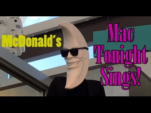 Mac Tonight sings at World's Largest Entertainment McDonald's in Orlando Florida
