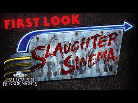 FIRST LOOK: Slaughter Sinema House | Halloween Horror Nights 2018