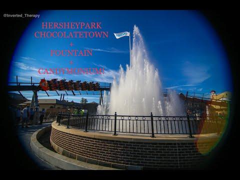 Hersheypark Chocolatetown Fountain + Candymonium