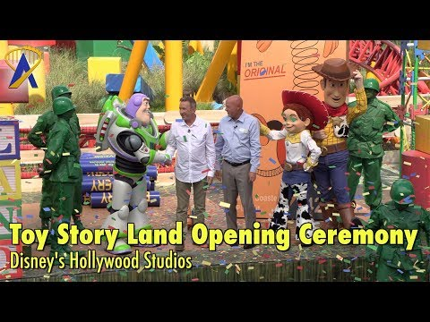 Toy Story Land Opening Ceremony with Tim Allen at Disney's Hollywood Studios