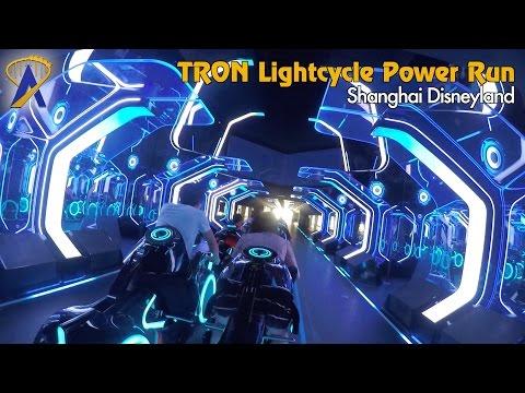 Tron Lightcycle Power Run coaster POV at Shanghai Disneyland
