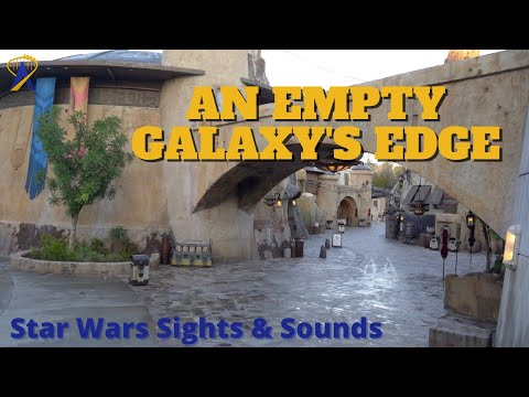 Sights & Sounds of an Empty Star Wars: Galaxy's Edge at Sunrise