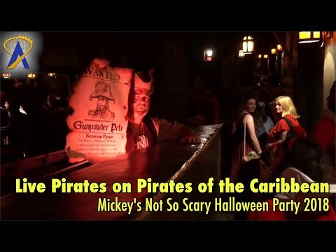 Live Pirates on Pirates of the Caribbean for Mickey's Not So Scary Halloween Party