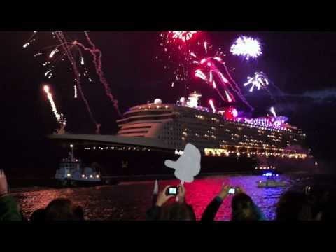Disney Dream cruise ship arrives with fireworks at Port Canaveral