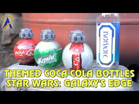 Specially themed Coca-Cola bottles at Star Wars: Galaxy's Edge
