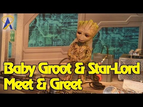 Meet Baby Groot and Star-Lord at Disney's Hollywood Studios