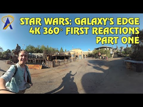 4K 360° VR Walkthrough and First Reactions to Star Wars: Galaxy's Edge - Part One
