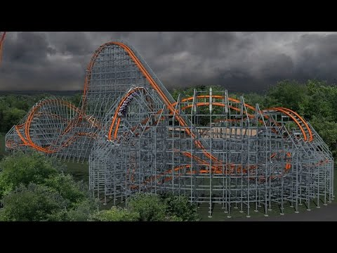 Wicked Cyclone concept video and POV - opening at Six Flags New England in 2015