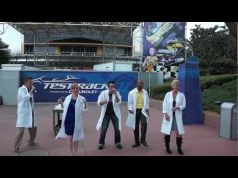 Test Track All Stars A cappella group at Epcot - Walt Disney World