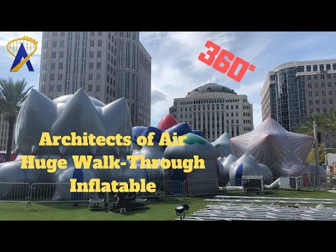 360 - Architects of Air Huge Walk-Through Inflatable Environments at Immerse 2019
