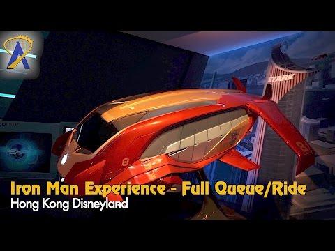 Iron Man Experience - Full Queue and Ride POV at Hong Kong Disneyland
