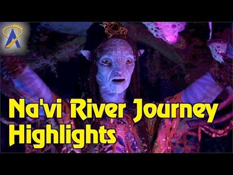 Na'vi River Journey low light ride-through POV highlights | Pandora - The World of Avatar