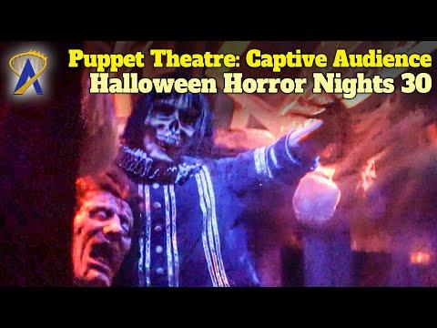 Puppet Theatre: Captive Audience Walkthrough - Halloween Horror Nights 30 - Orlando