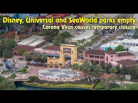 Flying Over Empty Theme Parks - Disney, Universal, SeaWorld shutdown for Coronavirus