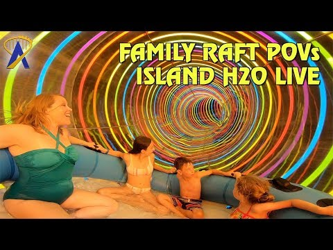Family Raft Slide POVs at Island H20 Live Water Park - Hashtag Heights and Profile Plunge
