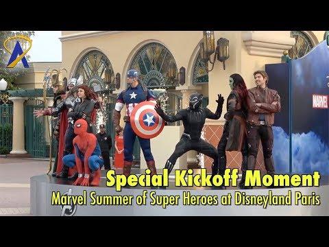 Special kickoff of Marvel Summer of Super Heroes event at Disneyland Paris