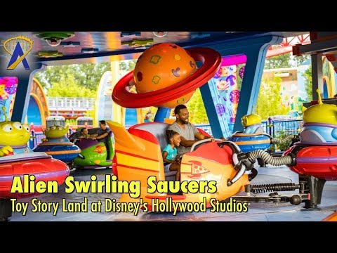 Alien Swirling Saucers FULL POV in Toy Story Land