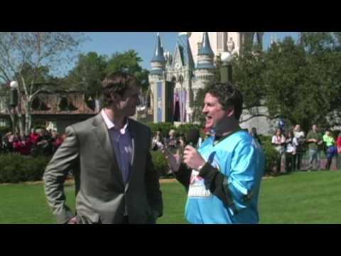 Super Bowl MVP Drew Brees visits the Magic Kingdom at Walt Disney World