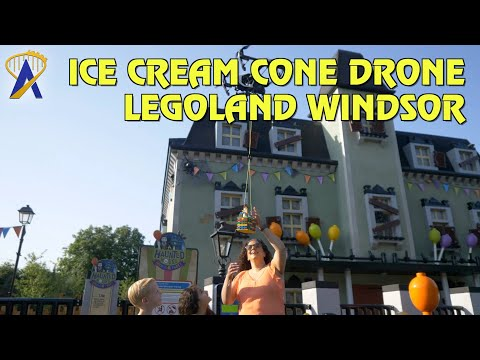 'Ice Cream Cone Drone' delivery tests at Legoland Windsor Resort