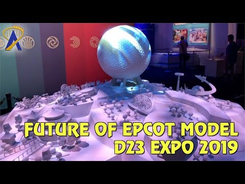 The Future of Epcot Model Display at Disney D23 Expo 2019